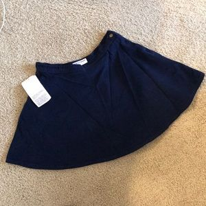 NWT American apparel corduroy circle skirt navy